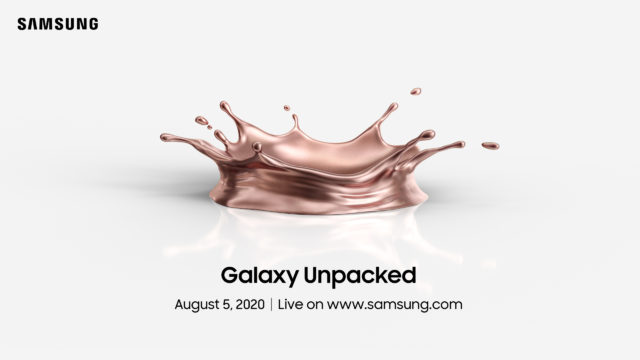 Samsung Galaxy Unpacked 2020 пройдёт 5 августа